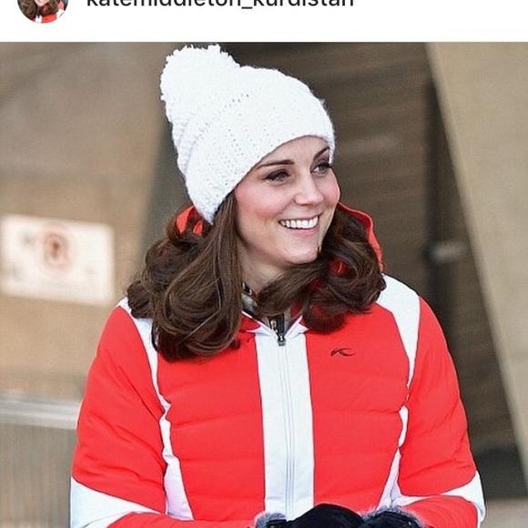 cb9fbfde090 etsy Accessories - All white pom pom hate similar to Kate Middleton